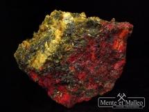 Aurypigment, realgar z kopalni złota - rzadkość - Chiny