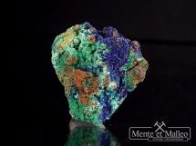 Azuryt, malachit na syderycie - piękne kolory
