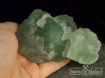 Fluoryt - trzy generacje, piękna zielona barwa - Chiny