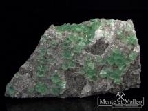 Fluoryt kalcyt - wspaniały kolor, ładne kryształy