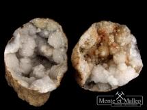 Geoda kwarcowa - dwie części