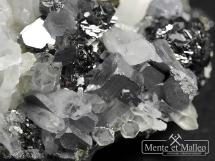 Kryształ górski, galena, sfaleryt, dolomit - Bułgaria