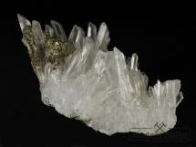 Kryształ górski, chalkopiryt - Bułgaria