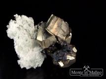 Piryt, kwarc - wspaniałe kryształy