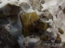 Rzadki foszagit, plazolit, wezuwian, niebieski kalcyt